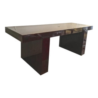 Jacques Adnet Sturdy Modernist Rosewood Coffee Table For Sale