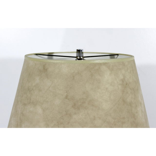 Mid-Century Modern 1970s Mid-Century Modern Suede Lucite Chrome Floor Lamp For Sale - Image 3 of 9