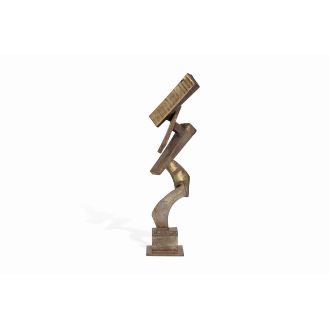 1970s Vintage Mid-Century Brutalist Metal Sculpture by Peter Calaboyias For Sale - Image 5 of 13