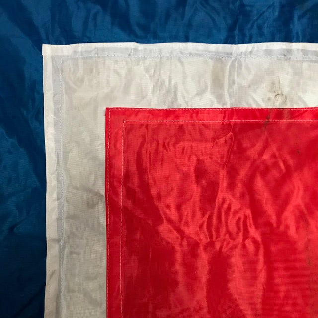 "Industrial Vintage ""W"" Nautical Flag For Sale - Image 3 of 5"