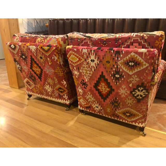George Smith George Smith Kilim Chairs - a Pair For Sale - Image 4 of 5