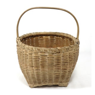 20th Century Rustic Maine Woven Basket Preview