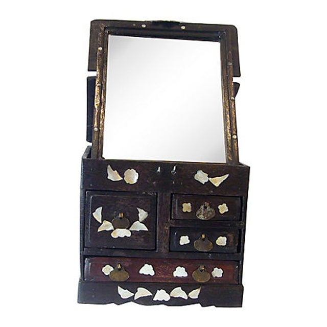 Antique Mother of Pearl Inlay Jewelry Box - Image 6 of 6