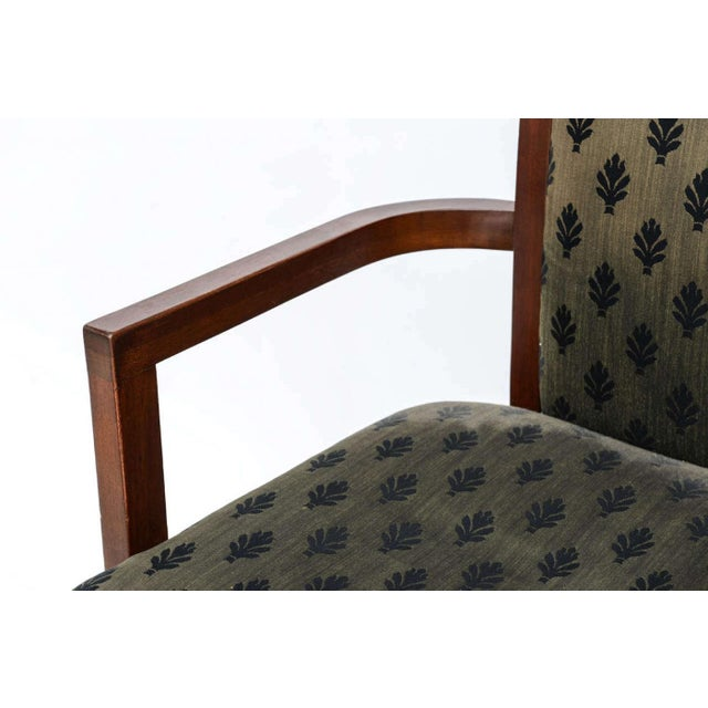 Wood Set of 12 Frank Lloyd Wright Taliesin Mahogany Dining Chairs by Henredon For Sale - Image 7 of 9
