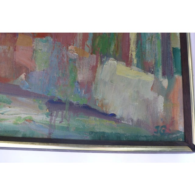 Signed Abstract Oil Painting by Jean Gunther, Listed Artist - Image 3 of 13