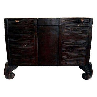 Antique Swiss Black Forest Trunk For Sale