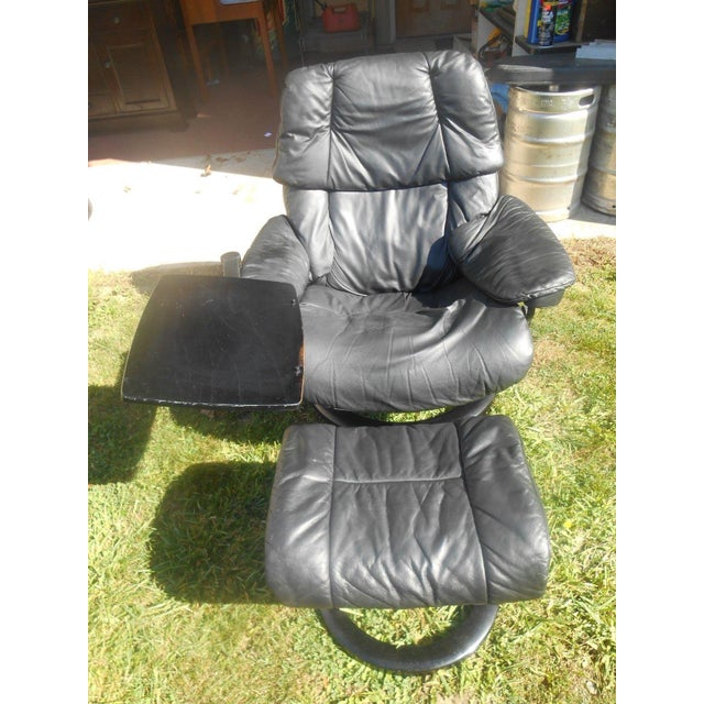 Ekornes Stressless Recliner & Ottoman For Sale - Image 5 of 11