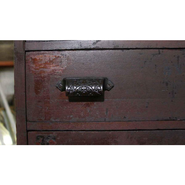 19th Century Industrial Wooden Chest of 36 Drawers For Sale In New York - Image 6 of 9