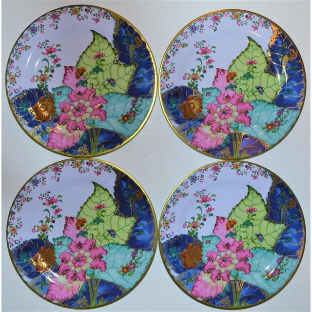Enamaled Tin Tobacco Leaf Plates - Set of 4 For Sale - Image 10 of 13
