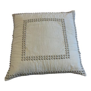 Jamie Young Linen Breeze Studded Pillow For Sale