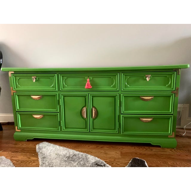 1960s Vintage Lacquered Chinoiserie Style Credenza For Sale - Image 6 of 6
