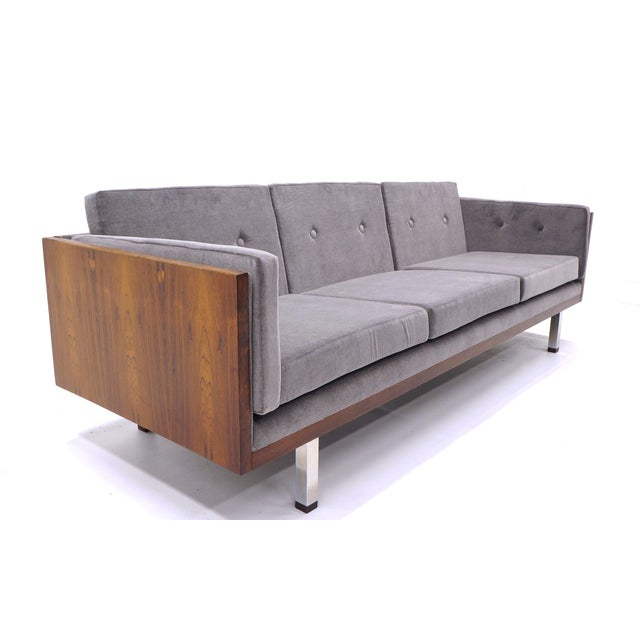 Brazilian rosewood even arm case sofa by Jydsk Mobelvaerk, Denmark. We also have a listing for a matching pair of...