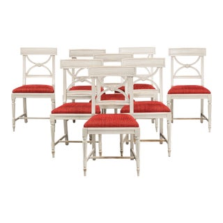 Gustavian Bellman Chairs - Set of 8 For Sale