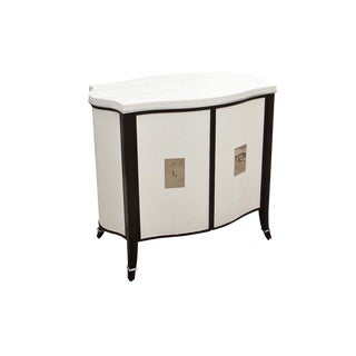 Barclay Butera Cabinet Wrapped in Faux Leather For Sale