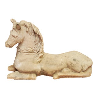 Garden Statue of a Recumbent HORSE For Sale