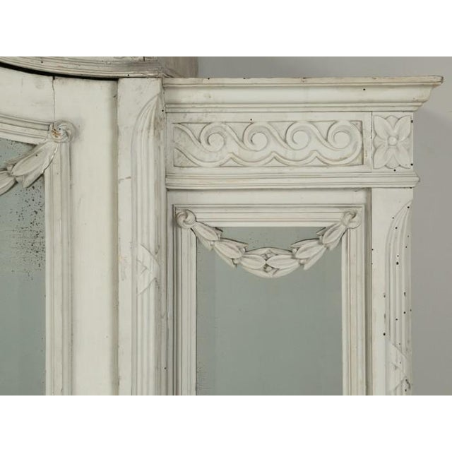 White Antique French Original Painted Armoire, Circa 1900 For Sale - Image 8 of 12