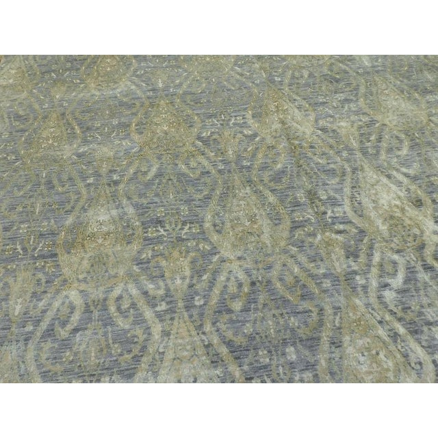 Hand Knotted Indian Ikat Rug - 9′ × 12′ For Sale - Image 4 of 12