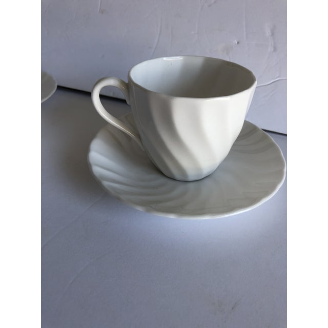 Contemporary Vintage Royal Tuscan by Wedgwood Cocoa /Teacups & Saucers S/4 For Sale - Image 3 of 7