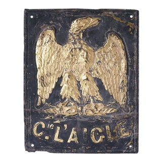 Early French Fire Insurance Sign For Sale
