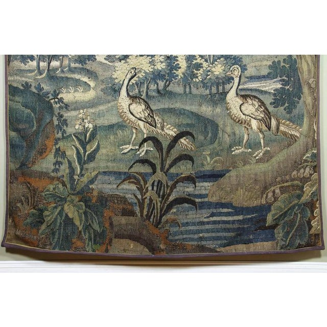Early 18th Century Flemish Verdure Tapestry For Sale - Image 5 of 10