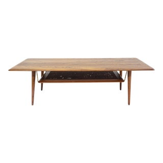 1950s Peter Hvidt Teak Coffee Table For Sale