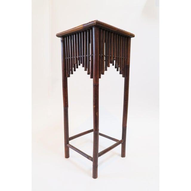 Dark Brown Bamboo Pedestal - Image 4 of 7