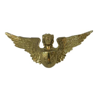 Solid Brass Angel Door Accent For Sale