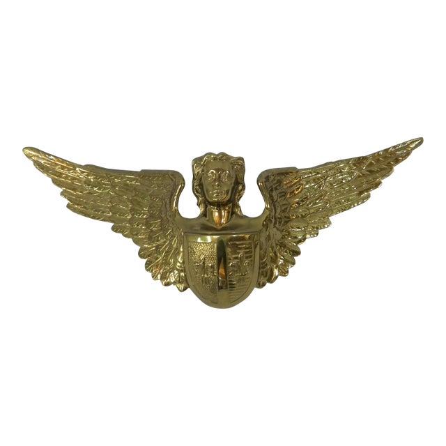 Solid Brass Angel Door Accent For Sale