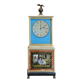 Rare and Important Aaron Willard Massachusetts Federal Shelf Bride's Clock, ca 1820