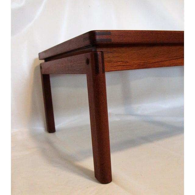 Mid-Century Modern Teak & Smoked Glass Coffee Table - Image 4 of 4