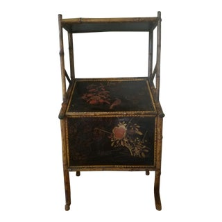 Chinoiserie Bamboo Magazine Table For Sale