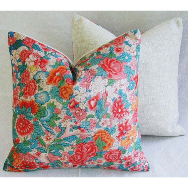 Sale! 4 Summer Floral Linen Pillow Covers - Set 4 - Image 5 of 9
