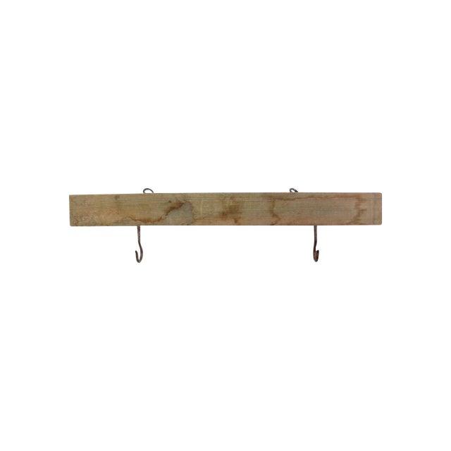 Vintage Wood & Metal Hook Rack - Image 1 of 7