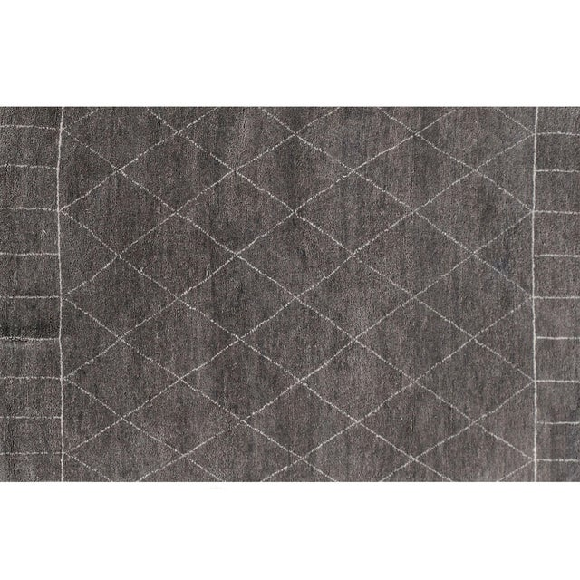 Stark Studio Rugs Contemporary Moroccan Wool Rug - 6′ × 9′ For Sale