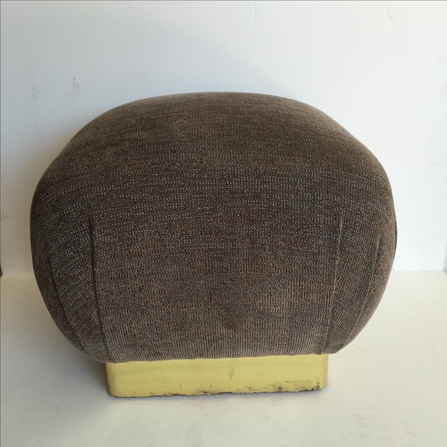 1970 Marge Carson Pouf with New Fabric - Image 2 of 8