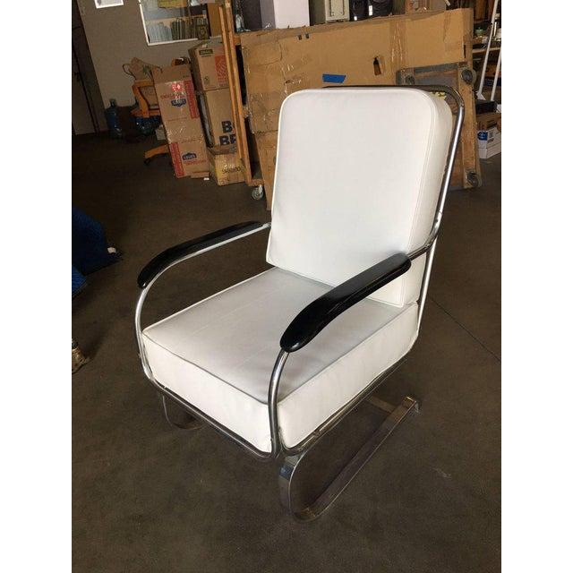 """1930s Kem Weber Chrome Art Deco Armchair """"Springer Chair"""" for Lloyd For Sale - Image 5 of 8"""