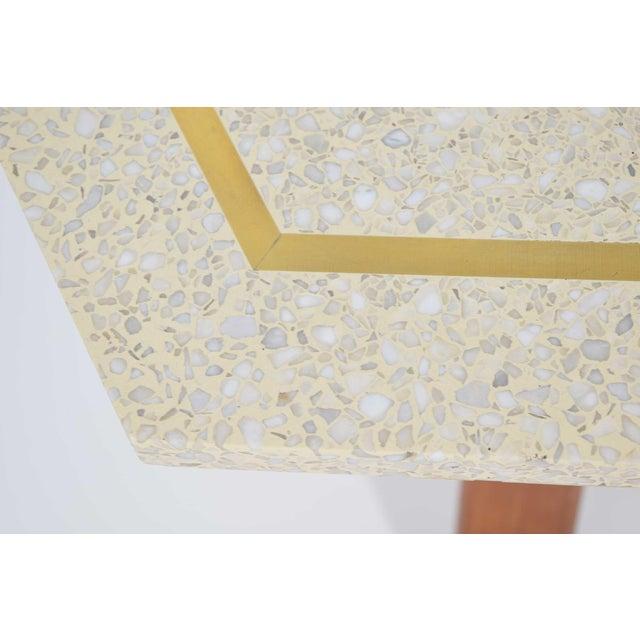Harvey Probber Hexagonal Terrazzo Side Table For Sale In Dallas - Image 6 of 9