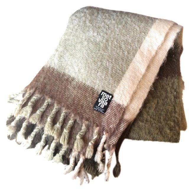 Metsovaara Scandinavia Wool Mohair Blanket For Sale