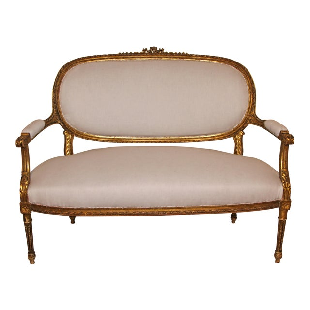 1880s French Settee For Sale