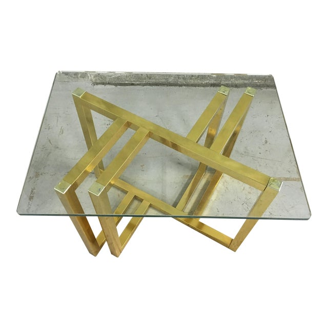 Mid-Century Modern Anodized Aluminum End Table - Image 1 of 7