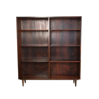 Vintage Danish Rosewood Bookcase With Adjustable Shelves For Sale