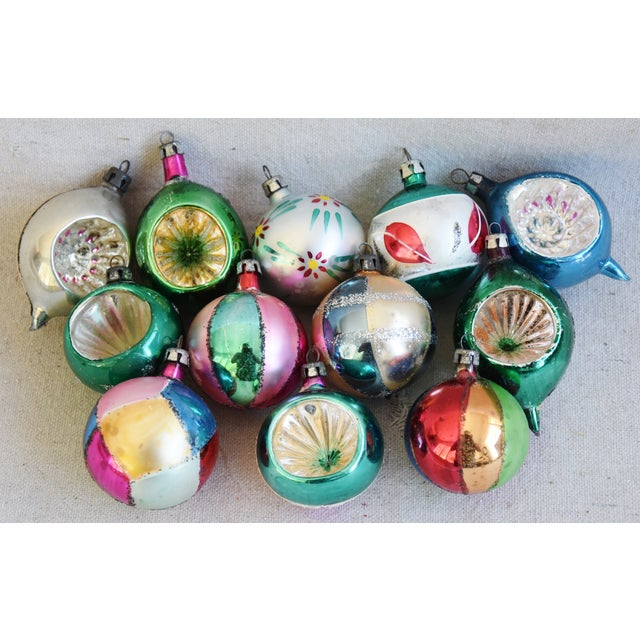 Fancy Midcentury Vintage Colorful Christmas Tree Ornaments W/Box - Set of 12 For Sale - Image 9 of 9