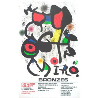 Joan Miro, Bronzes, Lithograph, 1972 For Sale
