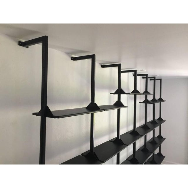 Architectural Italian Wall-Mounted Shelving System For Sale - Image 4 of 6