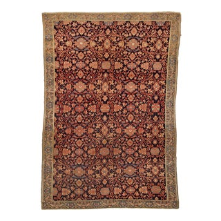 1870s Malayer Persian Rug- 4′5″ × 6′5″ For Sale