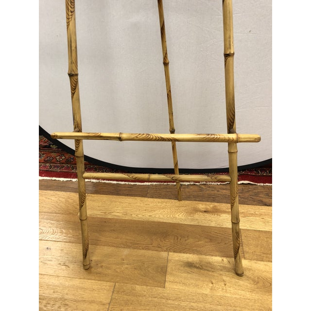 Boho Chic 1920s Vintage Bamboo Floor Display Easel For Sale - Image 3 of 8