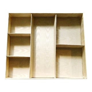 1980s Vintage Sateen Covered Drawer Organizer For Sale
