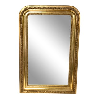 19th Century Louis Phillipe Gold Mirror For Sale