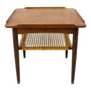 Vintage Mid Century Poul Jensen for Selig Danish Teak Small Side End Table For Sale