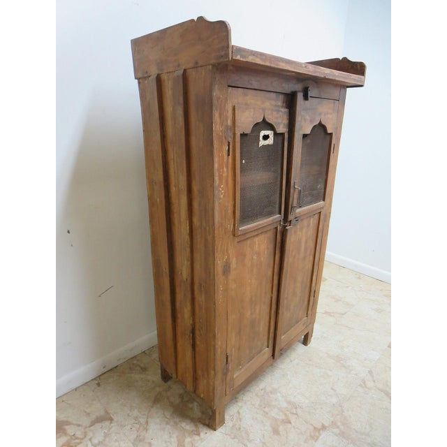 Antique Primitive China Cabinet Cupboard - Image 3 of 8